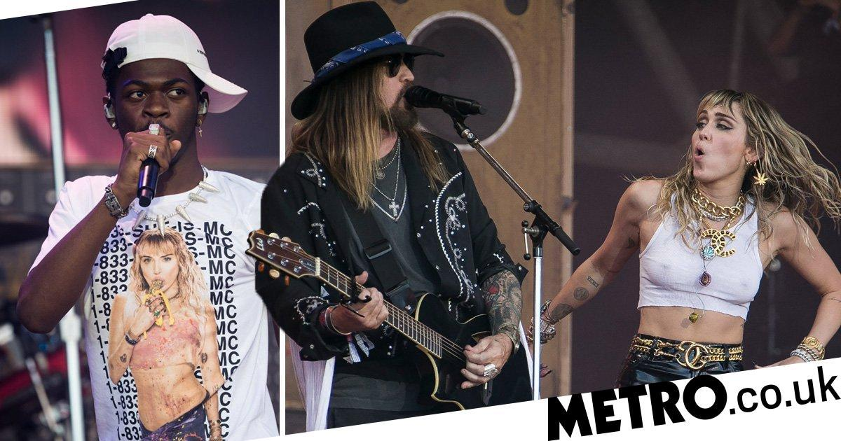 Miley Cyrus, dad Billy Ray and Lil Nas X take Old Town Road to Glasto