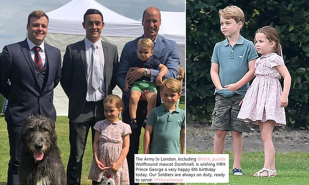 The British Army: Prince George wish him a happy sixth birthday