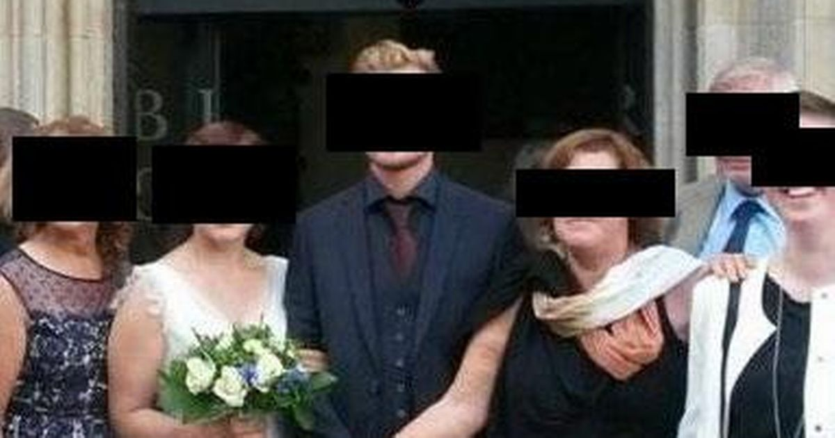 Mother-in-law 'blocks out bride' in bizarre hand holding photograph