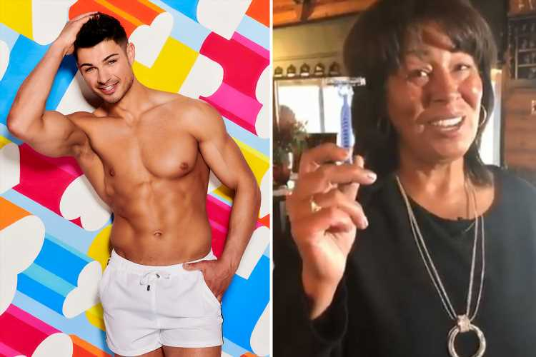 Anton Danyluk's mum shows off the razor she uses to shave the Love Island star's bum as she gains 10,000 Instagram followers in 24 hours – The Sun