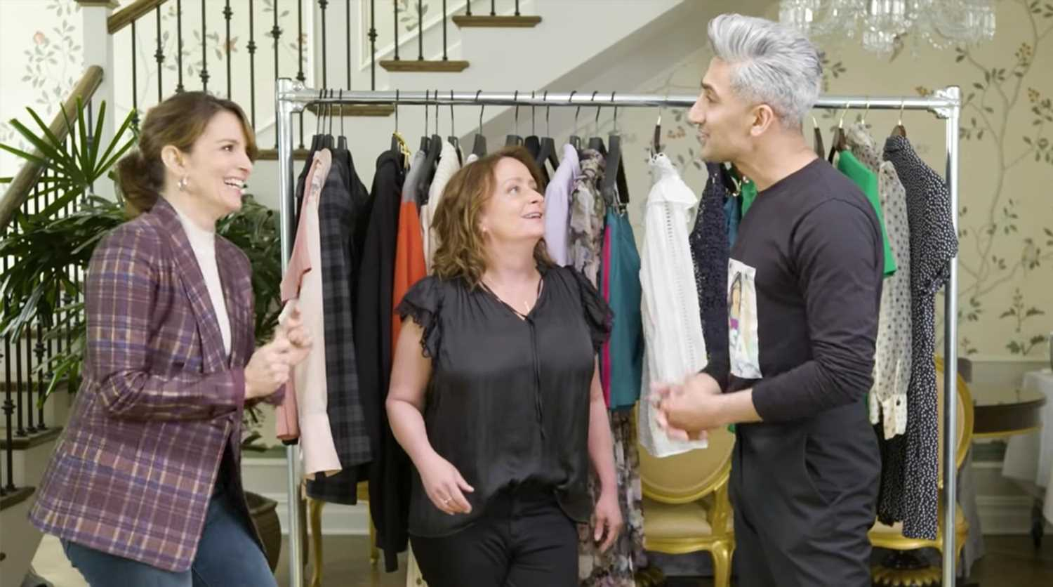 Queer Eye's Tan France gets Tina Fey, Rachel Dratch to wear mom jeans