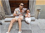 John Legend's Instagram With Luna In Italy Will Make You Crave Vacation & Gelato So Hard