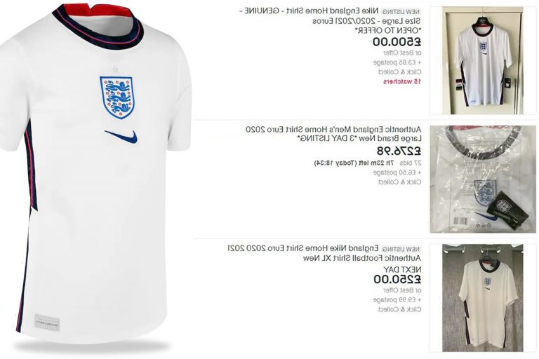 England Euro 2020 shirts being flogged for £500 online ahead of finals as Sports Direct and JD Sports sell out