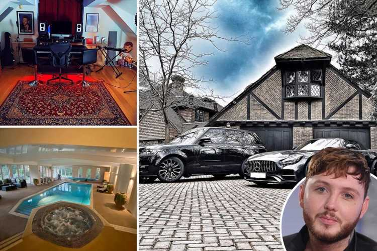 Inside James Arthur's mansion with incredible indoor pool and home studio – The Sun
