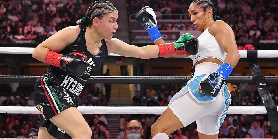 "Amanda Serrano Wore a Pair of ""Island Green"" Jordan 6 Rings in Her Dominant Title Defense"