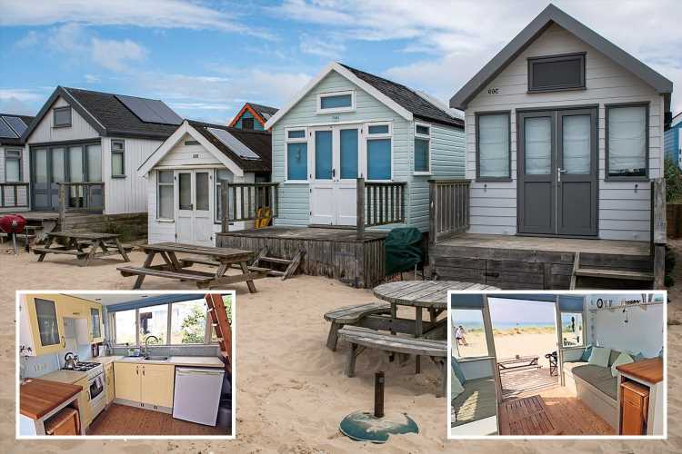 Beach hut in Dorset is up for sale for an eye-watering £355,000