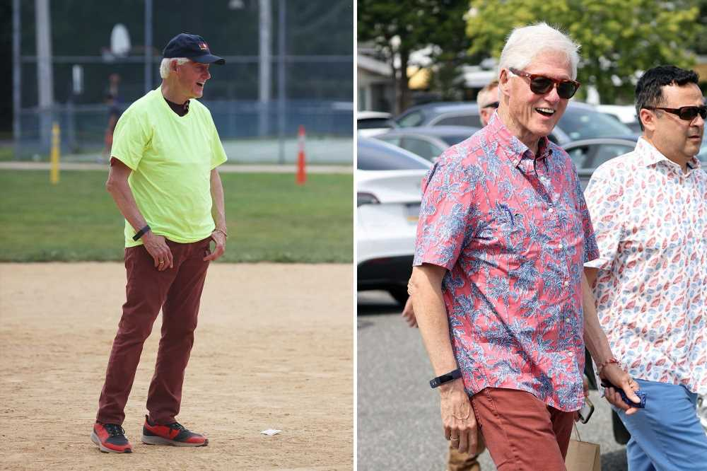 Bill Clinton is all smiles at Hamptons charity softball game