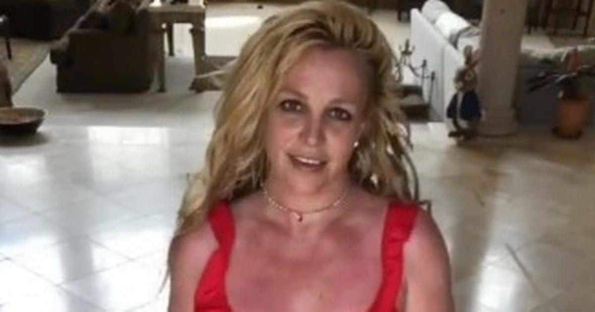 Britney Spears sends fans wild in plunging crop-top as she teases new film