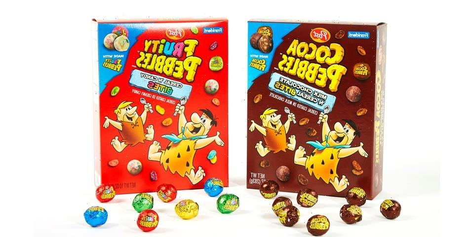 Candy and Cereal Collide on Frankford Candy's Fruity PEBBLES and Cocoa PEBBLES Bites