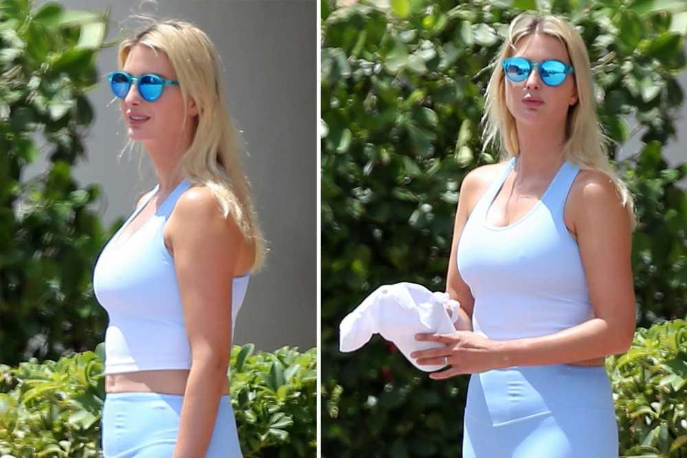Ivanka Trump kicks back in athleisure with daughter Arabella in Miami