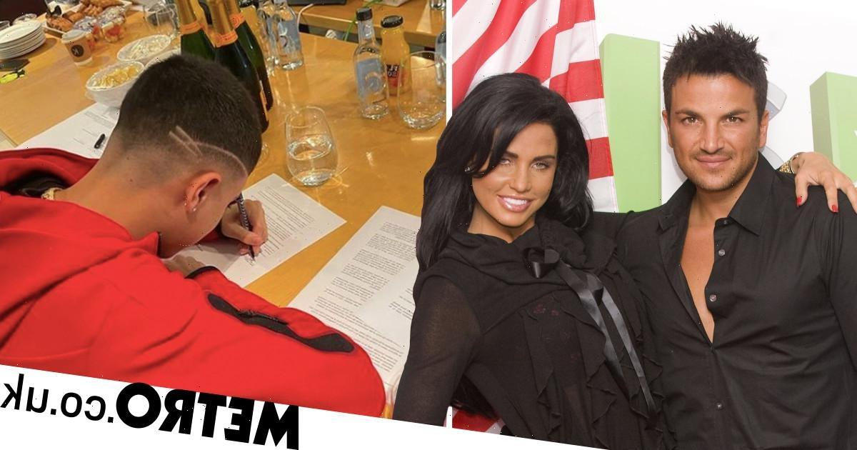 Katie Price reveals she went over Junior's record contract with ex Peter Andre