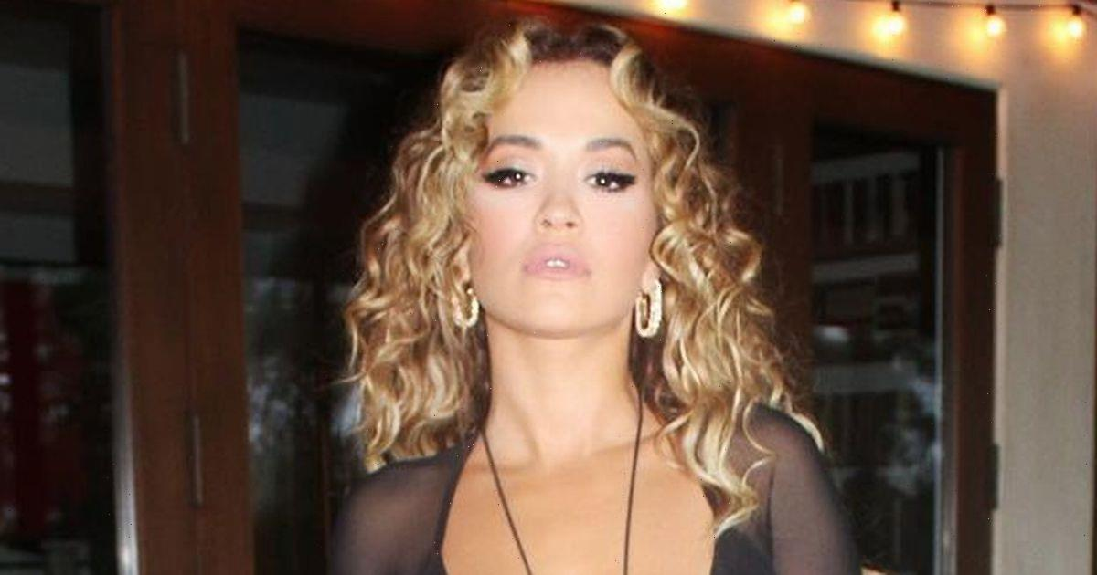 Rita Ora wows fans as she slips into sheer dress to showcase all her curves