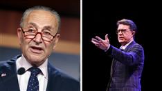 Stephen Colbert and Chuck Schumer's Backstage Dance Sparks Debate: 'Innocent Joy' or 'Maximum Cringe' (Video)