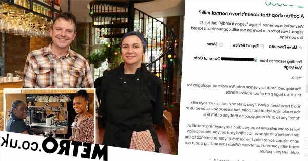 Cafe owner hits back as customer claims they were 'forced' to drink oat milk