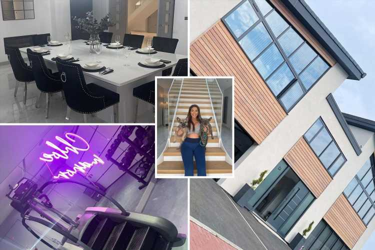 Chloe Ferry unveils her brand new dining room with marble floor, huge TV and dazzling lights
