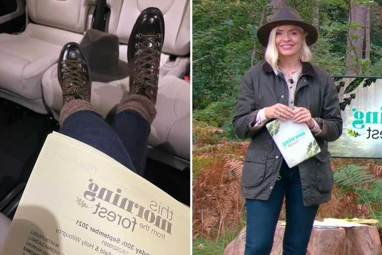 Holly Willoughby annoys fans as she posts picture while being driven to the show's forest – but can you spot why?