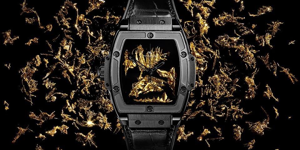 Hublot Spirit of Big Bang Cristal d'Or Celebrates Lab-Grown Gold Crystal
