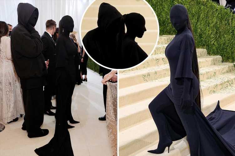 Kim Kardashian hits the red carpet at the 2021 Met Gala with Balenciaga designer in matching masked looks