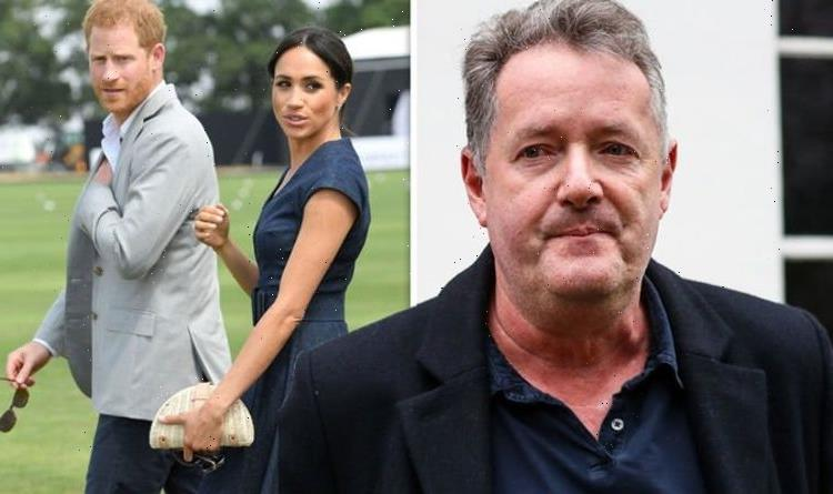Piers Morgan left concussed and eye cut as he walked out of Prince Harrys speech Agony