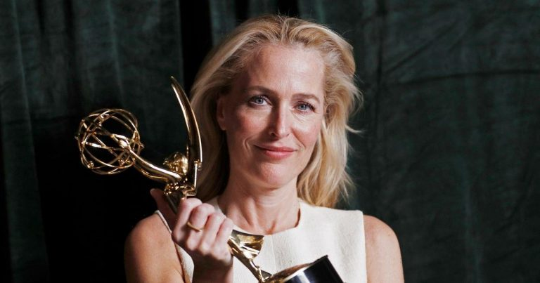 The Crown scoops five Emmy awards as Gillian Anderson gives moving speech