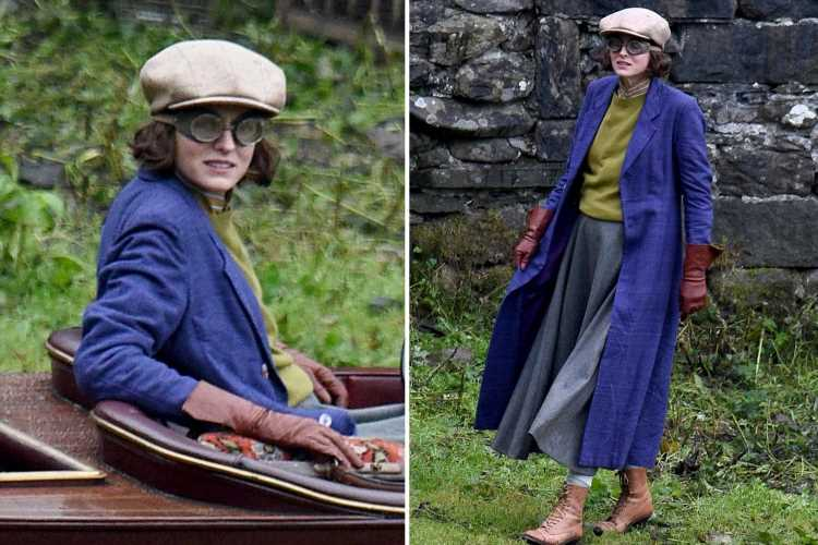 The Crown's Emma Corrin is worlds away from Princess Diana on set of new Netflix film Lady Chatterley's Lover