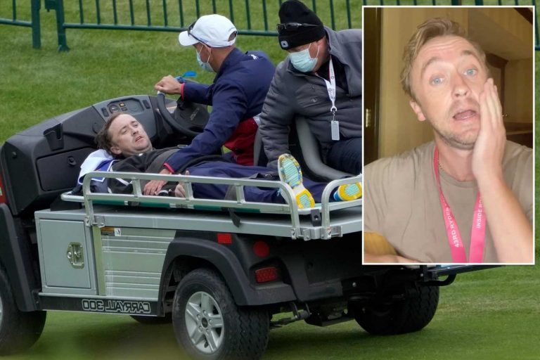 Tom Felton says hes on the mend after golf course collapse