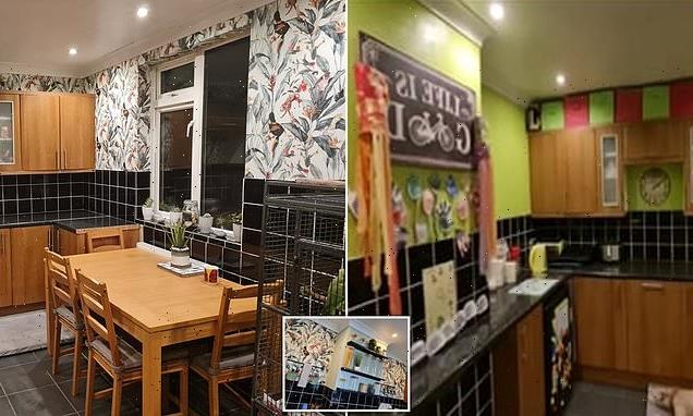 Mum transforms her unsightly bright green kitchen for just £80